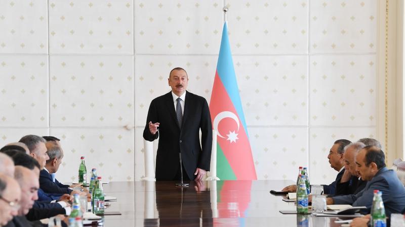 """İlham Əliyev: """"Sarkisyan rejiminin biabırcasına hakimiyyətdən qovulması Ermənistanın dövlətçiliyinin iflasıdır"""""""