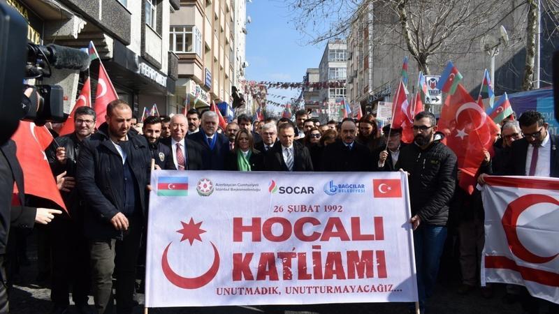 İstanbulda Xocalı yürüşü