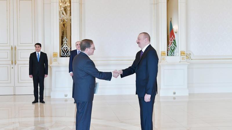 Prezident ABŞ-ın Azərbaycanda yeni təyin olunmuş səfirinin etimadnaməsini qəbul etdi