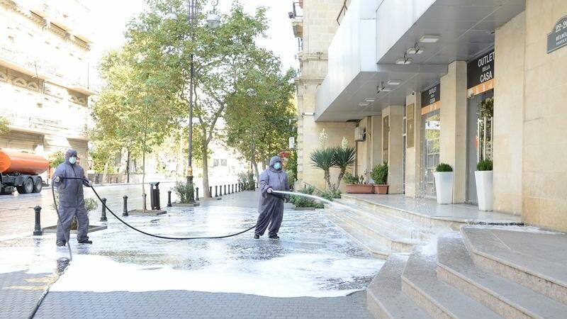 Bakıda 553 küçə dezinfeksiya edildi - FOTO/YENİLƏNDİ