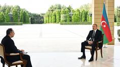 """Prezident İlham Əliyev """"İnterfaks""""a müsahibə verdi"""