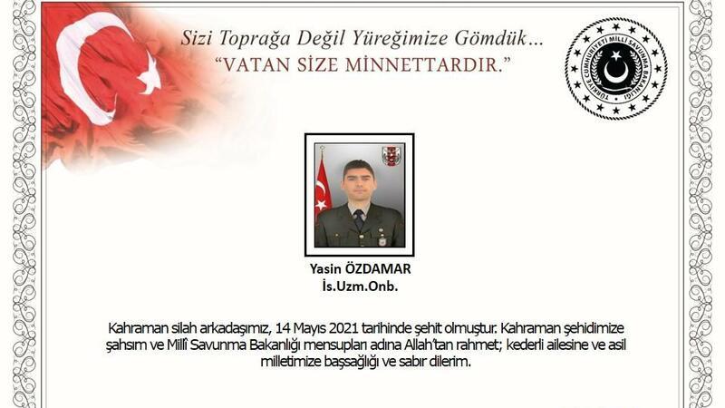 Türkiyə ordusu şəhid verdi - FOTO