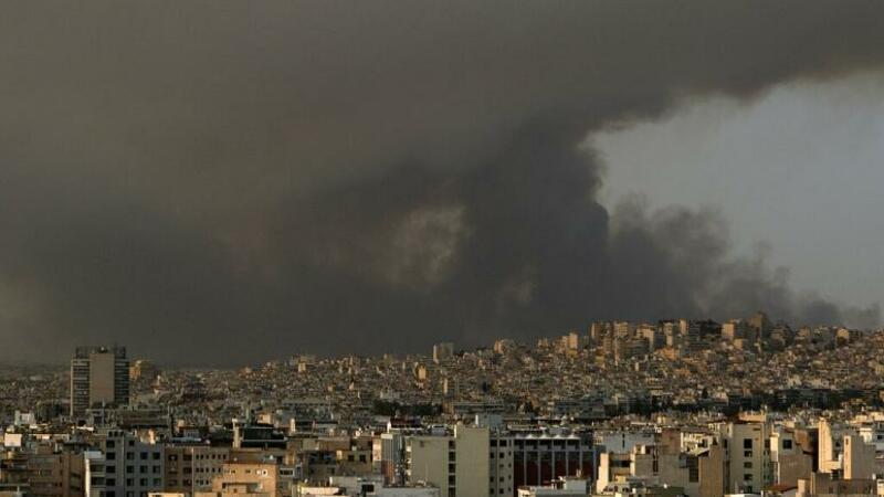 SON DƏQİQƏ: Yunanıstanda güclü meşə yanğınları başladı - FOTO
