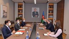 Ceyhun Bayramov Taha Ayhanla görüşdü - FOTO