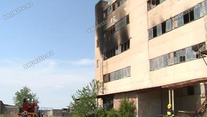 Gəncə Qənnadi fabriki yandı - FOTOLAR (YENİLƏNİB)